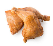 Two smoked chicken legs Royalty Free Stock Photos