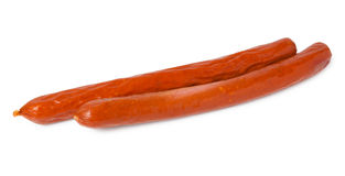 Two smoked sausages Royalty Free Stock Photos