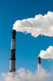 Two smoky tubes Stock Image