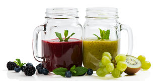 Two smoothies from berries and fruits. Stock Photography