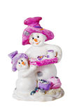 Two snow man figures Royalty Free Stock Image
