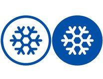 Two snowflake signs Royalty Free Stock Image