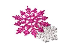 Two snowflakes Royalty Free Stock Photos