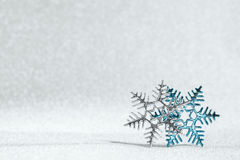 Two snowflakes with star of David inside Stock Images