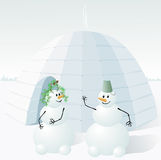Two snowman Royalty Free Stock Photography