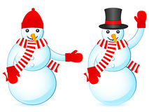 Two snowmans Royalty Free Stock Images