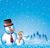 Two snowmen Royalty Free Stock Photo