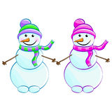 Two snowmen Stock Image