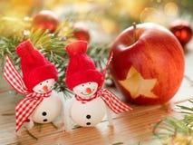 Two snowmen Stock Photography