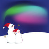 Two snowmen Stock Photo