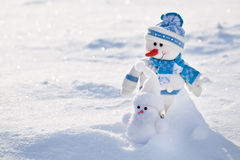 Two snowmen. Stock Image