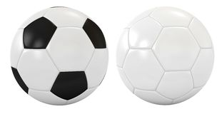 Two soccer balls Stock Photos