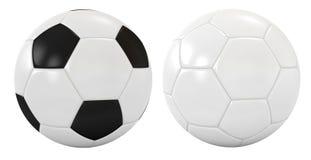 Two soccer balls Stock Photos