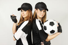 Two soccer coaches Royalty Free Stock Image