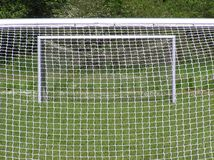Two soccer goals Stock Photo