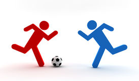 Two soccer players Royalty Free Stock Photo