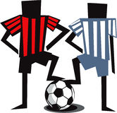 Two soccer players Stock Photos