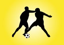 Two soccers players Royalty Free Stock Photo