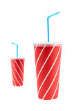 Two soda drinks with straw Stock Photo