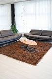 Two sofas. Living room with two sofas and table Royalty Free Stock Photography
