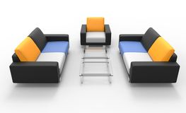 Two Sofas And Armchair Royalty Free Stock Image