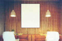 Two sofas in cafe, poster toned Royalty Free Stock Photography