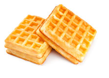 Two Soft Waffles Stock Photography