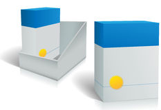 Two software product boxes in open box design Royalty Free Stock Images