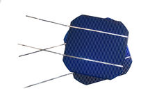 Two solarcells. Two isolated solarcells on white background Royalty Free Stock Image
