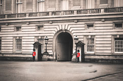 Two Soldier Standing on the Entrance of the Building Stock Photos