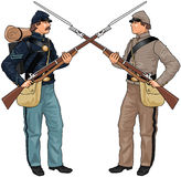 Two Soldiers From American Civil War Stock Photos
