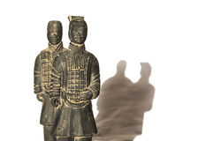 Two soldiers of Terracotta Army royalty free stock photos