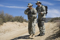 Two Soldiers During Training Stock Photography