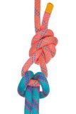 Two solid rope knots Royalty Free Stock Image