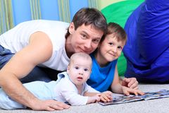 Two sons Royalty Free Stock Photos