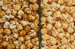 Two sorts of Popcorn Royalty Free Stock Photo