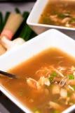 Two soup bowls Stock Photo