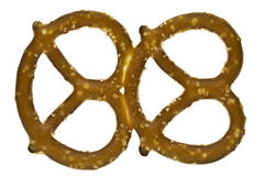Two sourdough pretzels baked together Royalty Free Stock Photo