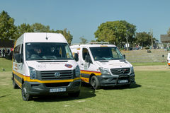 Two South African Ambulances next to each other Royalty Free Stock Photo
