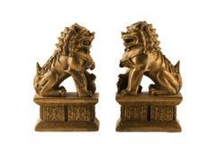 Two souvenir fu dogs Royalty Free Stock Image