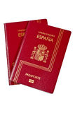 Two Spain passports. Isolated on white background. With clipping path included Royalty Free Stock Photo