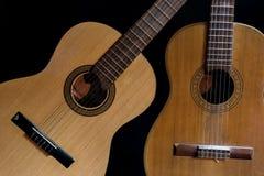 Two Spanish guitars Royalty Free Stock Photos