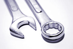 Two spanners Royalty Free Stock Photo