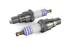 Two spark plugs Stock Photos