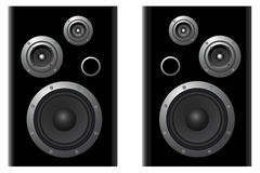 Two speaker systems Stock Photo