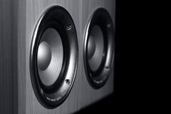Two speaker systems Stock Images