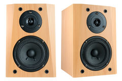 Two speakers Stock Images