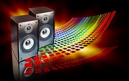 Two speakers on abstract background Royalty Free Stock Image