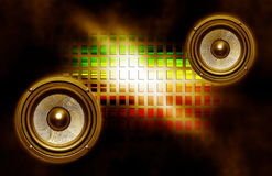 Two speakers on abstract background Stock Images