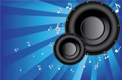 Two speakers background vector Stock Images